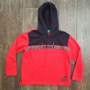 Liz Claiborne Liz Golf Red Pullover sweatshirt sm